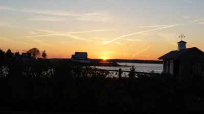I was driving over the bourne bridge and the sunset overtook me. I quickly went towards the coast and shot this. I really like it.