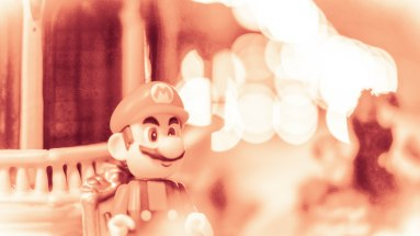Mario at Christmas. Edited with Lightroom.