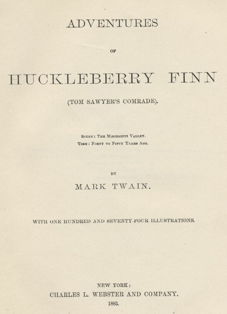 Huckleberry finn essays