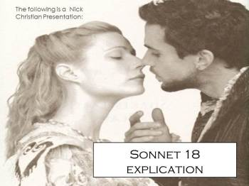 "comparison shakespeare s sonnets and sonnet Sonnet compare and contrast essay love can be expressed and described in many different ways shakespeare`s sonnets ""116"" and ""18"" justify that love has the."