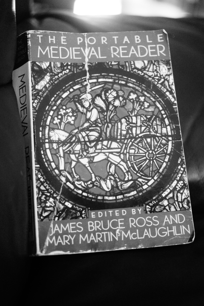 The Portable Medieval Reader is edited by James Bruce Ross and Mary Martin McLaughlin.