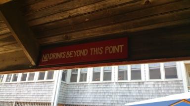 Sign at bar #1